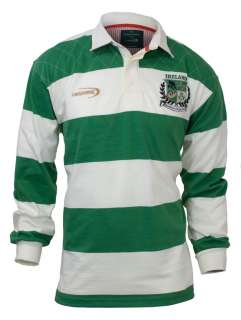 Lansdowne Irish Sage and Cream Heritage Rugby Shirt