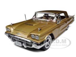 1960 FORD THUNDERBIRD HARD TOP DUST GOLD 1/18 DIECAST CAR MODEL BY