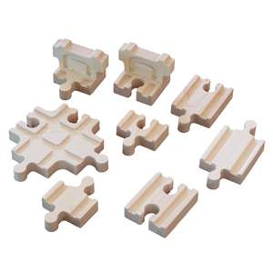 New Wooden 8 Cross Buffer Adapter Set Thomas Train Brio
