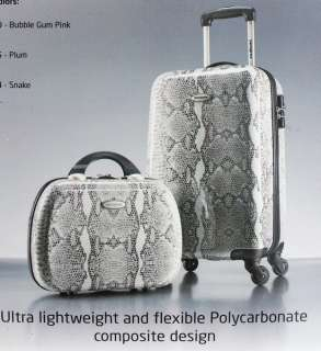 SKIN 2 pc Luggage Set Spinner Wheeled Carry On & Beauty Case