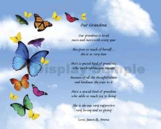 Personalized Grandma Grandmother Poem Keepsake Gift