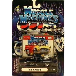 Muscle Machines Black 55 Chevy 01 61 164 Scale Toys