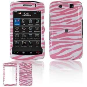 Pink/White Zebra Design 2 Piece Hard Case for BlackBerry Storm 2 9550