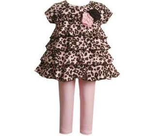 Bonnie Jeans Girls Leopard Print Fall Dress Outfit 4