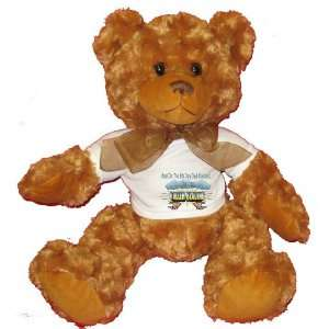 8th Day God Created ROLLER BLADING Plush Teddy Bear with WHITE T Shirt