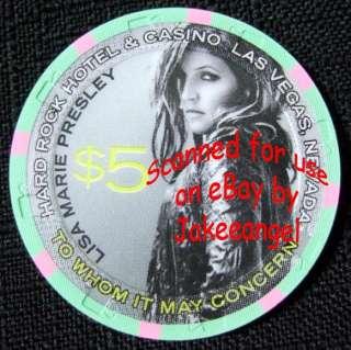 Lisa Marie Presley Photos Hard Rock Hotel Casino Las Vegas $5 Chip