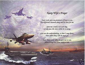 NAVY WIFE Poem Prayer Personalized Name Military Print