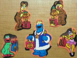 Sesame Street Ernie Bert Cookie Monster Zoe Halloween Fabric Iron On