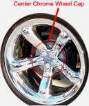 Chrysler Plymouth Prowler Chrome Wheel Cap JU4865 352AB