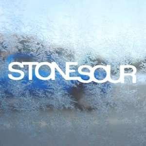 Stone Sour White Decal Metal Rock Band Laptop Window White