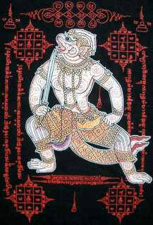 HANUMAN Thai Ramakian Monkey God New Black T shirt L