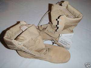 Desert Tan Hot Weather Boots Size 12.5R Military Issue
