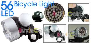 56 LED Bicycle Bike Headlight Flashlight Torch Lamp