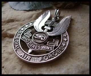AJS© SPECIAL AIR FORCES BRITISH BADGE SAS PENDANT (W20)
