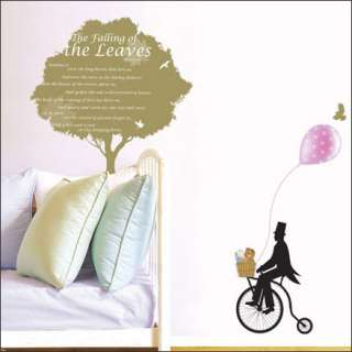 TREE&BIKE Home Art Decor Mural Wall Sticker Decal #156
