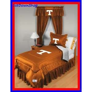 Tennessee UT Vols Volunteers 5pc LR Queen Comforter/Sheets Bed Set