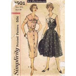 Simplicity 2501 Vintage Sewing Pattern Womens Dress