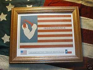 Framed Historic Texas FlagCaptain William Brown