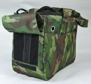 Dog Cat Travel Carrier Canvas Camouflage Shoulder Bag pb0005