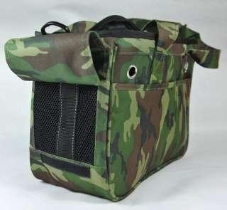 Dog Cat Travel Carrier Canvas Camouflage Shoulder Bag pb0005