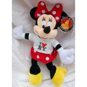 Disney Minnie Mouse Doll Toy in I Love Newyork Shirt Toys & Games