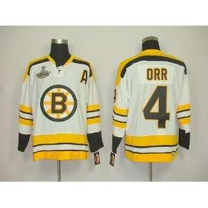 Bobby Orr #4 NHL Boston Bruins White Hockey Jersey Sz50