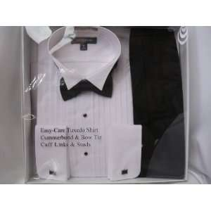 Mens Clothing ; Tuxedo Shirt, Cummerbund & Bow tie, Cuff