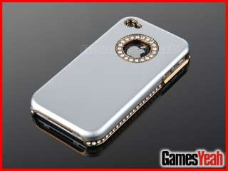 Bling Luxury Silver Diamond Cover Hard Case + Pen + Screen Protect F