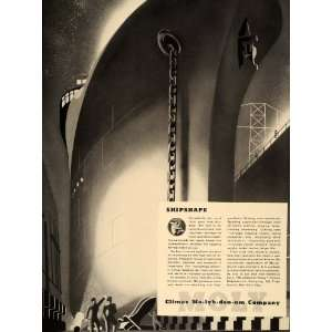1937 Ad Climax Molybdenum Co. Ship Liner Hull Art Deco