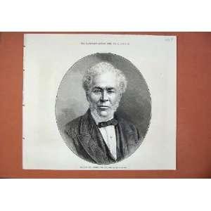 1873 Portrait Andrew Lusk Lord Mayor London Man Print