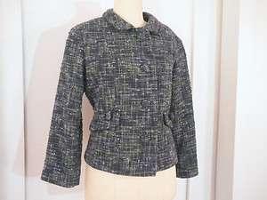 ELEVENSES from ANTHROPOLOGIE Blue and Green Plaid Blazer / Jacket, Wm