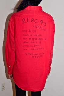 1993 Fish Club Sportsman Country Button Down Shirt M L 1992 92