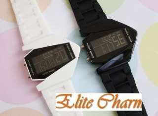 Multi color LED B 2 Bomber Mens Electronic Watch Black