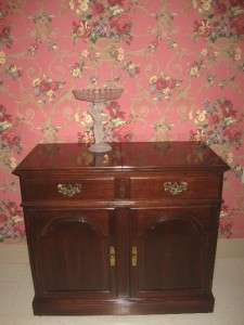 Ethan Allen Georgian Court Solid Cherry Open Up Server 6325