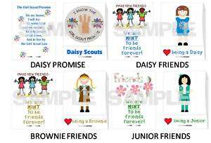 GIRL SCOUT mint matchbook favors DAISY BROWNIE JUNIOR