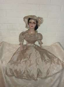 26 Antique French Boudoir Doll composition cloth vtg