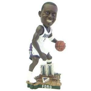 T.J. Ford Milwaukee Bucks Home Jersey Action Pose Bobble