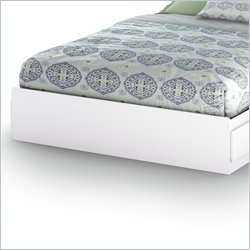 South Shore Breakwater Queen Mates Storage Pure White Finish Bed