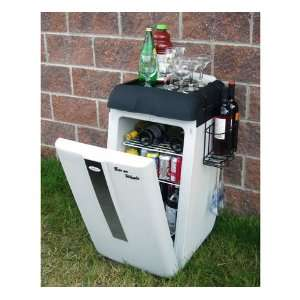Bar On Wheels Portable Entertainment Cooler Patio, Lawn