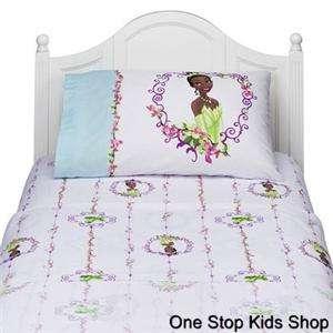 PRINCESS TIANA & the Frog FULL or TWIN SHEET SET Sheets Bedding