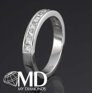 84 CT DIAMOND WEDDING BAND 14KT WHITE GOLD CUT NEW RING
