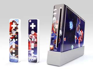 New For Nintendo Wii Vinyl Sticker/Skin Super Mario