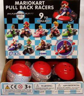 Pc SUPER MARIO KART Pull Back Racer New & RARE HOT