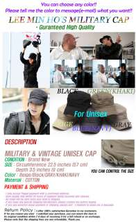 SHINEE WORLD]NEW!CITY HUNTER LEE MIN HOS MILITARY CAP