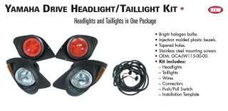 NEW YAMAHA DRIVE GOLF CART HEAD & TAIL LIGHT KIT part # GCA JW115 00