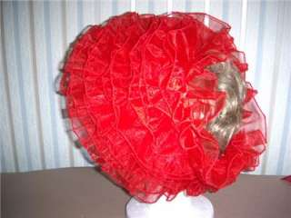 Satin & Organza Bonnet, Adult Sissy Baby,Sunny Creation