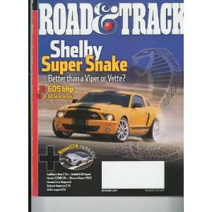 Road & Track Magazine, December 2007   Shelby Super Snake