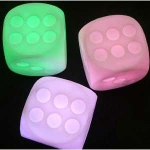Dice 7 Color Christmas Candle LED Lights Gift