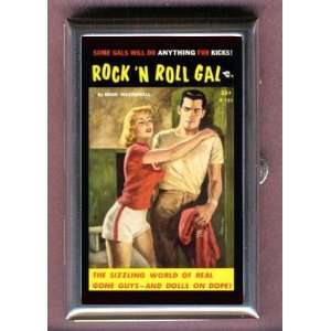 Rock n Roll Gal Fun Pulp Coin, Mint or Pill Box Made in