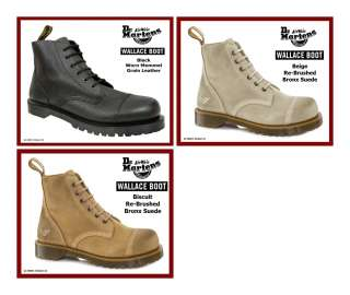 Airwair Mens Wallace Paratrooper Fashion Boots Suede or Leather